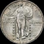 Standing Liberty Quarter Dollar